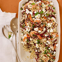 Shrimp, Radicchio & Couscous Salad