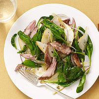 Warm Spinach & Roast Pork Salad