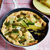 Souffle Frittata with Leeks
