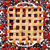 Mixed Berry Lattice Cobbler