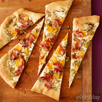 Winter Veggie & Prosciutto Pizza