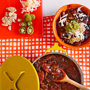 Mushroom, Ancho & Black Bean Chili