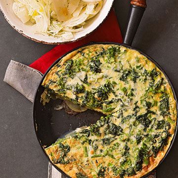 Broccoli Rabe Frittata with Fennel Salad