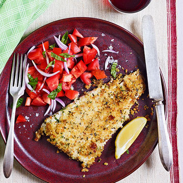 Fish with Mixed-Herb Gremolata Breadcrumbs