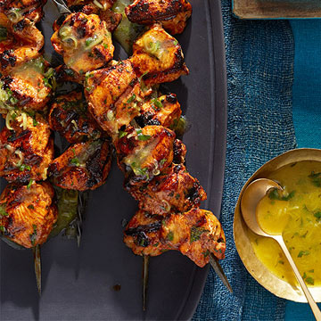 Moroccan Lemon-Herb Chicken Skewers
