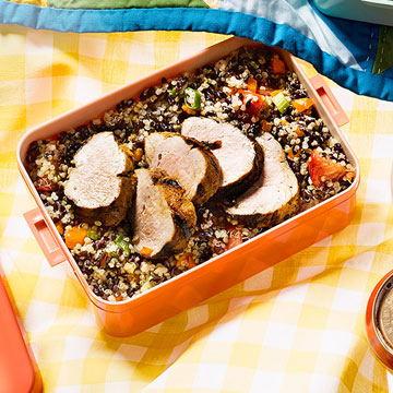 Grilled Pork with Rice & Quinoa Salad