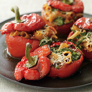 Roasted-Pepper-Pasta-Stuffed Peppers