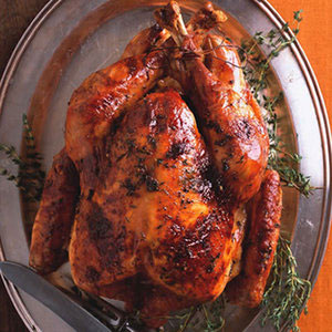 Maple-Glazed Roast Turkey with Apple Cider Gravy