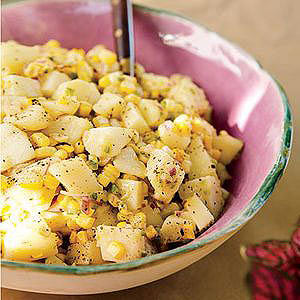 Grilled Corn and Potato Salad