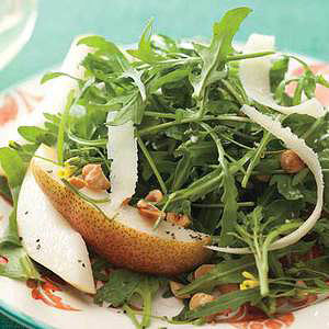 Wild Arugula Salad with Pears