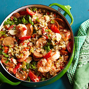 Chicken Andouille & Shrimp Jambalaya