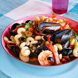 Mixed Seafood Pasta Puttanesca