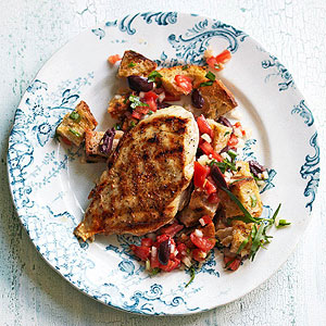 Grilled Chicken over Panzanella