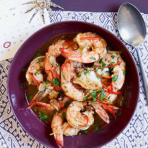 Shrimp with Chile-Lemon Butter