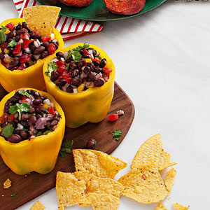 Black Bean Salsa-Stuffed Peppers