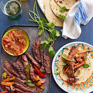 Beer-Marinated Steak Fajitaz