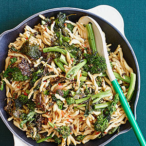 Smoky Roasted Rapini and Strozzapreti