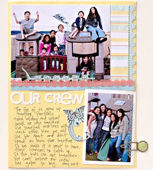 INCLUDE PHOTOS OF MULTIPLE GENERATIONS ON YOUR SCRAPBOOK PAGE