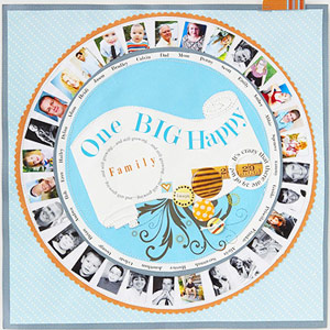 PRINT CONTACT-SHEET SIZE PHOTOS TO SCRAPBOOK A LARGE FAMILY