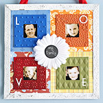 CREATE A PICTURE FRAME FROM SCRAPBOOKING LEFTOVERS