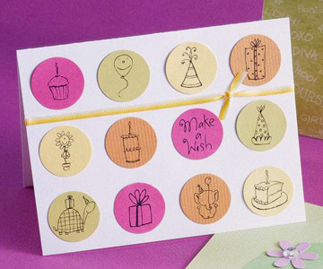 Birthday Cards for Kids: Circle-Punch Birthday Card