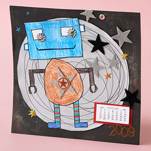 Easy Kid's Artwork Calendar