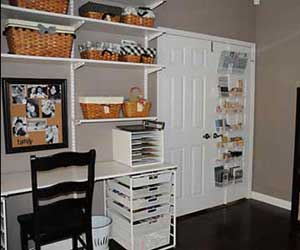 Hanging storage on closet door
