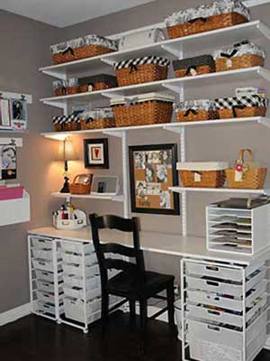 Shelves and storage bins