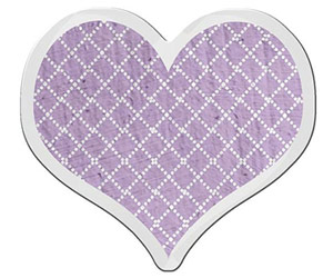 PURPLE DIGITAL HEART ACCENT
