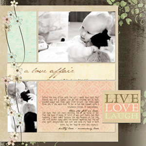 Make A Grid-Based Digital Scrapbook Page