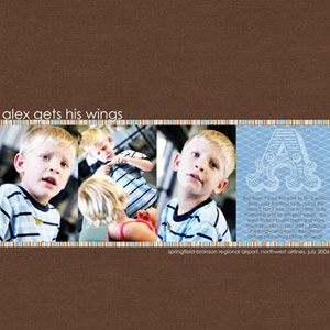Create A Row Of Digital Photos And Papers