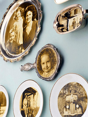 DISPLAY SCANNED PORTRAITS ON DISHWARE