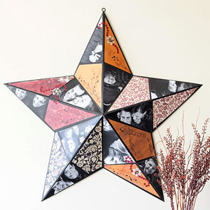TURN A METAL STAR INTO PHOTO DECOR WITH CRAFTS SUPPLIES