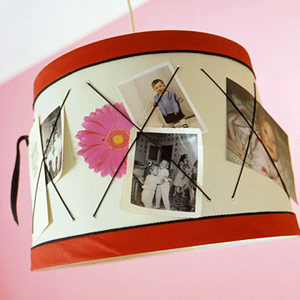 USE FAMILY PHOTOS TO TOUCH UP A LAMPSHADE