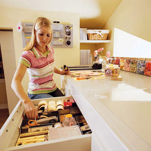 Erin's high counter with large drawers