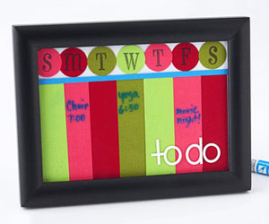 MAKE A TO-DO LIST FROM SCRAPBOOKING SUPPLIES