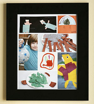 DISPLAY CHILD ARTWORK IN A POSTER-SIZE COLLAGE TEMPLATE