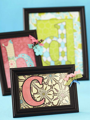 MAKE MONOGRAMED HOME DECOR FROM SCRAPBOOKING SUPPLIES