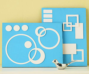 MAKE SIMPLE WALL ART FROM PLYWOOD AND CHIPBOARD SHAPES