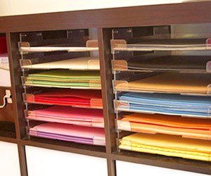 ORGANIZE SUPPLIES BY COLOR