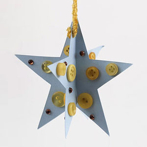 3-D hanging star instructions and pattern.
