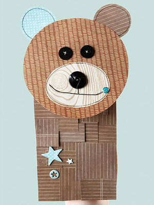 MAKE THE BEAR PAPER-BAG PUPPET