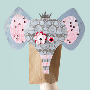 MAKE THE ELEPHANT PAPER-BAG PUPPET