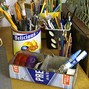 ORGANIZE LOOSE TOOLS IN VINTAGE CANS