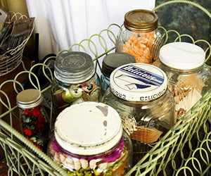 STASH HARD-TO-STORE ITEMS IN CANNING JARS