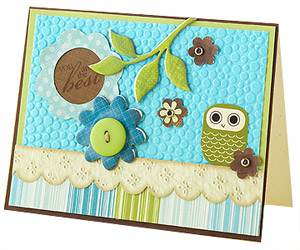 Add texture with embossing