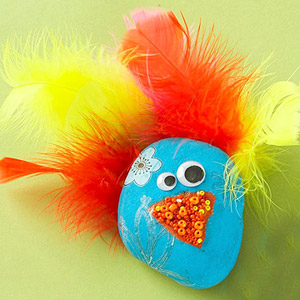 MAKE THE PEACOCK PET ROCK