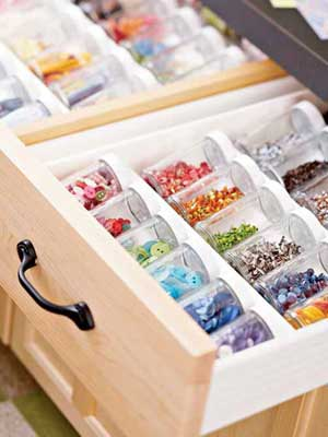 Spice-jar drawer organizer