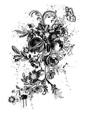 Floral-Flourish Brush
