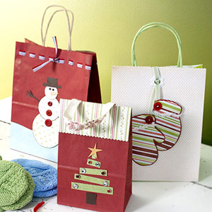 Create A Clever Holiday Gift-Bag Closure